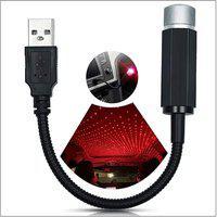 AutoRight Car USB Ambient Star Light, Romantic Auto Roof Star Projector Lights usb Universal Fit All Cars Car Fancy Lights(Red, Pink, Black)
