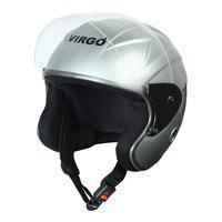 Virgo open face Motorbike Helmet(SilverGlossyClear)