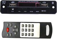 Electronicspices Dual USB Bluetooth FM USB AUX Card MP3 Stereo Audio Player Decoder Module Kit with Remote for Audio Amplifier Operating with 12V, (1st port USB, 2nd port CHARGING) Car Stereo(Double Din)