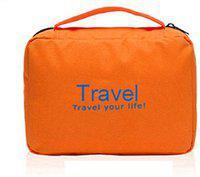 ShopAis Travel Your Life Travel Toiletry Kit(Orange)
