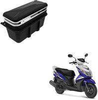 CARIZO Luggage Box Silver, Black Plastic Motorbike Saddlebag