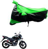 AK Art Two Wheeler Cover for Universal For Bike(Black, Green)