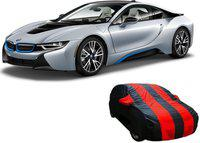 Car Bazaar Car Cover For BMW I8 (With Mirror Pockets)(Red, Black)