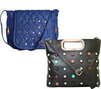 Element Cart Brown, Blue Sling Bag(Pack of 2)
