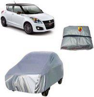 THE. Car Cover For Maruti Suzuki Swift (With Mirror Pockets)(Silver)