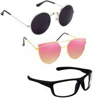 Vitoria Stylish & Fashionable Sunglasses With Box For Men Women Boys & Girls (pack Of 3)