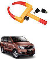 AutoSun ATZ-1495-267 Yellow Anti Theft Car Wheel Tyre Lock Clamp For Mahindra Xylo Wheel Lock