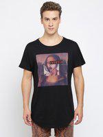 Breakbounce Graphic Print Men Round Neck Black T-shirt