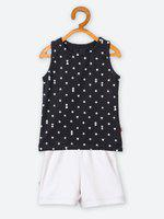 Nino Bambino Baby Boys & Baby Girls Casual T-shirt Shorts(Black)