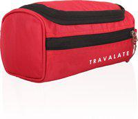 Travalate Travel Multipurpose Makeup Kit Pouch Medicine Organizer Bag Case Storage Pouch Handbag Travel Toiletry Kit(Red)