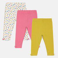 Mini Klub Legging For Baby Girls(Multicolor Pack of 3)