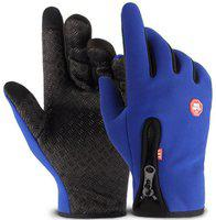 DreamPalace India Riding Gloves, Winter Gloves, Cycling Gloves, Biker Gloves, Gloves For Men Riding Gloves(Blue)