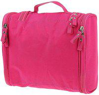 Kanha MultiColour High quality Toiletry Bag Travel Organizer Cosmetic Bags Makeup Bag Toiletry Kit Travel Toiletry Kit(Pink)