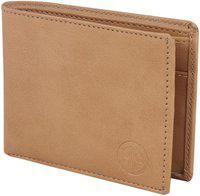 Deniza Men Tan Artificial Leather Wallet(3 Card Slots)