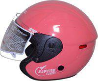 Cherry Open Face Modular Motorbike Helmet(Light Pink)