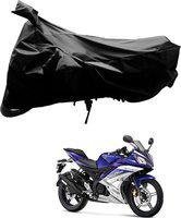 SRK SHOPPERS Two Wheeler Cover for Yamaha(Black)