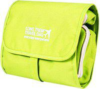 Kuber Industries Canvas Folding Hanging Cosmetic Makeup Travel Toiletry Bag Organizer kit with detachable pockets (Green) -CTKTC39006 Travel Toiletry Kit(Green)