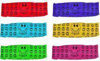 Majik Pencil Box for Kids for School Smiley Art Canvas Pencil Boxes(Set of 6, Multicolor)