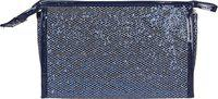 Uberlyfe Bling Bling Glitter Sequin multifunction Makeup Pouch Handy Cosmetic Pouch Perfect for Women and Girls- Dark Blue Cosmetic Bag