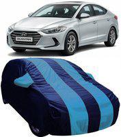 AUCTIMO Car Cover For Hyundai Elantra (With Mirror Pockets)(Blue)