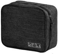 SUKHAD Portable Multi Purpose Makeup Organizer Bag Travel Toiletry Kit(Black)