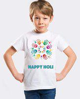 Fancydresswale Boys Printed Polyester Viscose Blend T Shirt(White, Pack of 1)