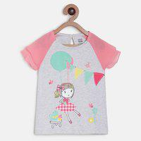 MINI KLUB Baby Girls Pure Cotton Knit Top(Grey, Pack of 1)