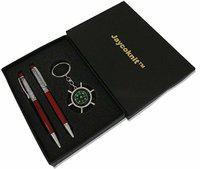 Jaycoknit Light Red Metal Crystal Pen,Compass Key chain Corporate Gift Set Ball Pen(Pack of 3)
