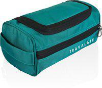 Travalate Makeup Kit Pouch Medicine Organizer Bag Case Storage Pouch Handbag Travel Toiletry Kit(Green)