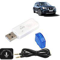 Vocado v2.1 Car Bluetooth Device with FM Transmitter(White, Blue)