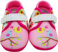 KazarMax Girls Velcro Casual Boots(Pink)