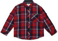 AJ DEZINES Kids Red Color Shirt for Boys (SH_409_RED_6)