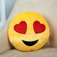 giftalove Lovely Hearts Yellow Cushion - 10 cm(Yellow)