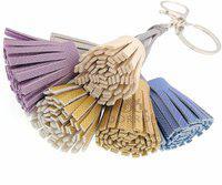 DORRON Faux Leather Tassel Charming Key Ring for Girls Key Chain