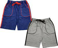 Indistar Short For Boys Casual Solid Polycotton(Multicolor, Pack of 2)
