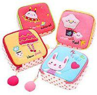 ShopyBucket Napkin pad Pouch Storage Travel Toiletry Kit(Multicolor)