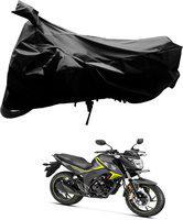 AutoKraftZ Two Wheeler Cover for Universal For Bike(Black)
