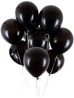 Wonder Solid Metallic Black Balloons for Aesthetic Decoration Balloon Arch Metallic Balloon - Set of 75 Balloon(Black, Pack of 75)