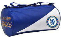 JAISBOY Bag Body Building Pu Leather Duffle Gym Bag & Sports Bag for Boys & Girls for Fitness( blue/white combination color gym bag) Gym Bag(Blue)
