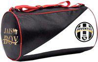 JAISBOY Gym Bag Body Building Pu Leather Duffle Gym Bag & Sports Bag For Men and Women For Fitness - Black/red/white Color with side Pocket Gym Bag(Black)