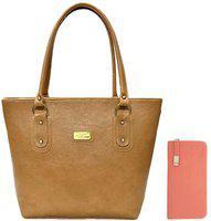 Clementine Women Tan Messenger Bag