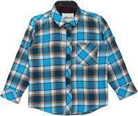 AJ DEZINES Kids Firozi Color Shirt for Boys (SH_418_FIROZI_12)