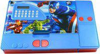 Vmaster Classic Captain America Art Plastic Pencil Box(Set of 1, Red, Blue)
