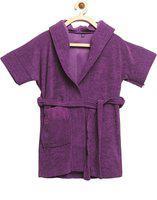 ELEVANTO Purple XL Bath Robe(1 bathrobe, For: Baby Boys & Baby Girls, Purple)