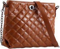 VIOLET Women Brown Sling Bag