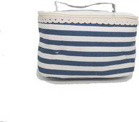 Connectwide Multifunctional Linen Cosmetic Makeup Travel Bag Holder Toiletry Organizer Storage Case Travel Toiletry Kit(Blue)