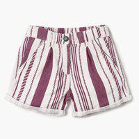 BOSSINI Short For Girls Casual Solid Cotton Linen Blend(Brown, Pack of 1)