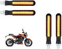 Bikers World Indicator Light, Fog Lamp, Headlight, Side Marker LED for KTM(Duke 200, Pack of 4)