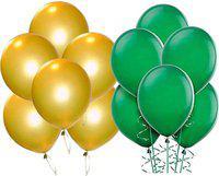 Saikara Collection Solid 125 Gold, Green Balloon(Green, Gold, Pack of 100)