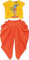 Twisha Girls Party(Festive) Top Dhoti Pant(Yellow)